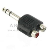Адаптер Jack Stereo 6.3mm - 2 RCA female