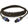 Готовый акустический кабель Klotz LY225TSW с разъемами Speakon