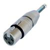 Адаптер XLR fеmale - Jack mono 6,3 mm Neutrik NA2FP